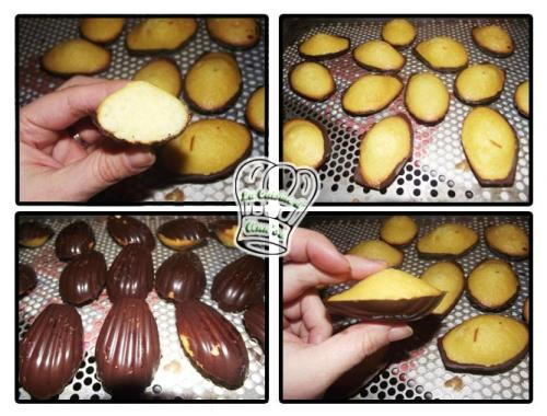 Madeleine au beurre demi-sel et coque en chocolat (annso ...